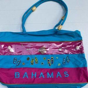 Bahama zip up tote bag